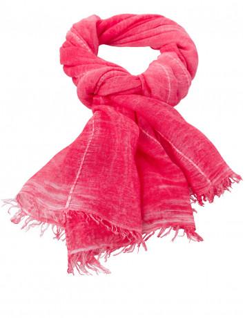 Шарф ярко-розового цвета