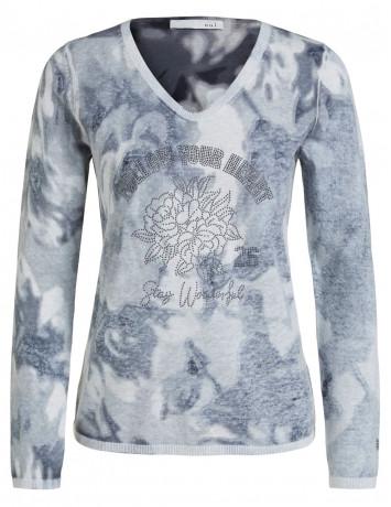 Пуловер со стразами