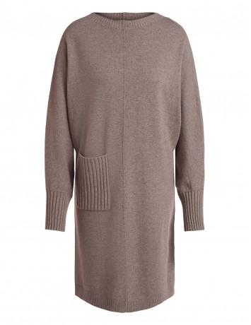 Платье-свитер вязаное